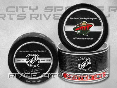 MINNESOTA WILD NHL 2005-2006 Official Game Puck. Found in Souvenirs > Pucks