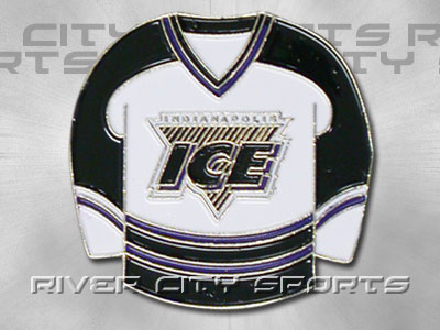 INDIANAPOLIS ICE HOME SWEATER PIN [Old Style Jersey] found