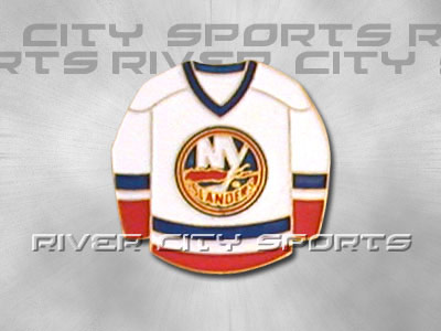 NEW YORK ISLANDERS HOME SWEATER PIN. Found in Souvenirs > Pins