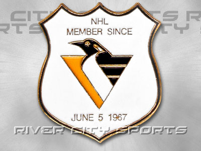 PITTSBURGH PENGUINS Shield Pin. Found in Souvenirs > Pins