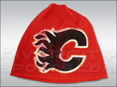 CALGARY FLAMES RBK OLD ORCHARD CUFFLESS KNIT CAP. Found in Clothing > Hats
