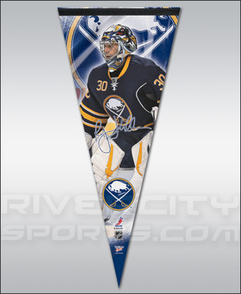 BUFFALO SABRES MILLER PREMIUM PLAYER PENNANT. Found in Souvenirs > Pennants