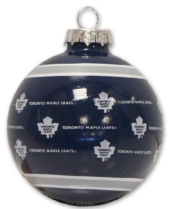 TORONTO MAPLE LEAFS GLASS BALL ORNAMENT. Found in Souvenirs > Christmas
