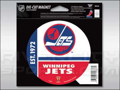 Winnipeg Jets DIE CUT MAGNET. Found in Souvenirs > Magnets