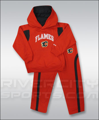 CALGARY FLAMES reebok CHILDS HOODY/PANT SET. Found in Clothing > Suits