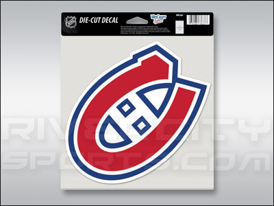 Montreal canadiens wincraft color die cut decal found in souvenirs stickers