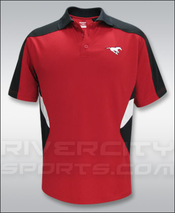 CALGARY STAMPEDERS REEBOK SIDELINE SHORT SLEEVE STANDOUT POLO. Found in Clothing > Shirts