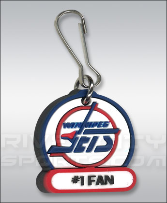 Winnipeg Jets VINTAGE NAME ZIPPER PULL. Found in Souvenirs > Keychains