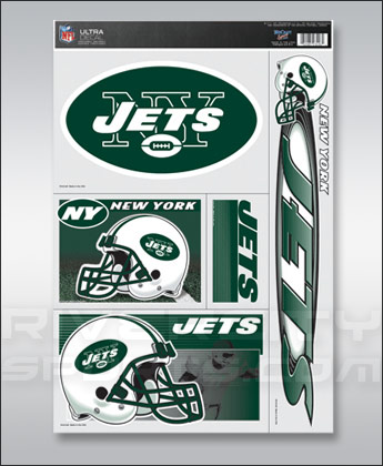 New York Jets WINCRAFT 5 PIECE ULTRA DECALS. Found in Souvenirs > Stickers