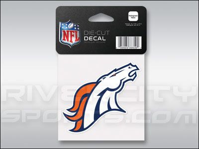 DENVER BRONCOS WINCRAFT 4X4 DIE CUT DECAL. Found in Souvenirs > Stickers