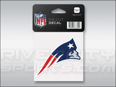 NEW ENGLAND PATRIOTS WINCRAFT 4X4 DIE CUT DECAL. Found in Souvenirs > Stickers