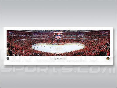 CHICAGO BLACKHAWKS CENTER ICE PANORAMA. Found in Souvenirs > Collectble