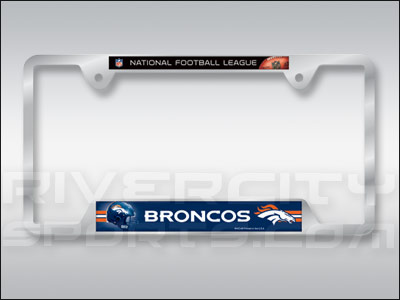DENVER BRONCOS WINCRAFT LICENSE PLATE FRAME. Found in Souvenirs > Lic.Plates