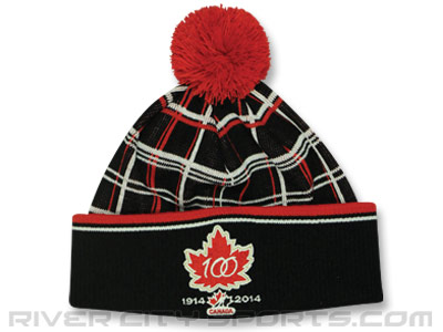 Canada PLAID 100TH KNIT. Found in Clothing > Hats