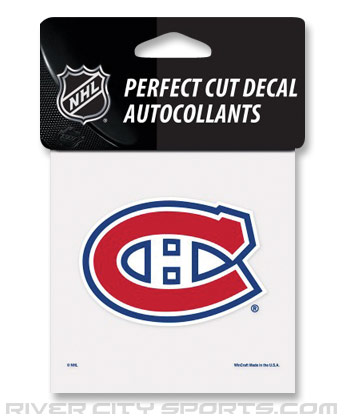 MONTREAL CANADIENS PERFECT CUT COLOR DECAL. Found in Souvenirs > Stickers