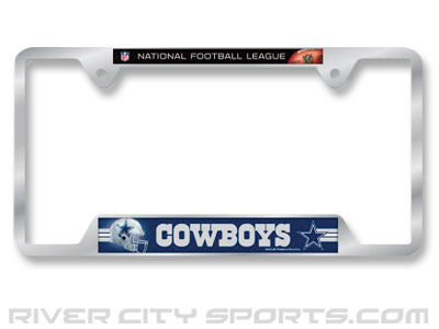 DALLAS COWBOYS WINCRAFT LICENSE PLATE FRAME found in NFL > Souvenirs ...