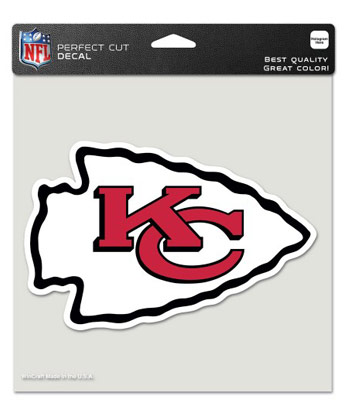 "KANSAS CITY CHIEFS WINCRAFT 8""x8"" COLOR DIE CUT DECAL. Found in Souvenirs > Stickers"