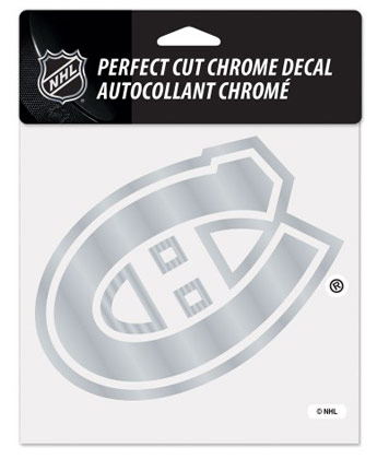 MONTREAL CANADIENS CANADIENS CHROME DIE CUT DECAL. Found in Souvenirs > Stickers