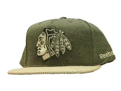 CHICAGO BLACKHAWKS TONAL GREY CAP. Found in Clothing > Hats