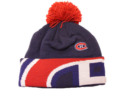 MONTREAL CANADIENS CUFFED KNIT W/POM. Found in Clothing > Hats