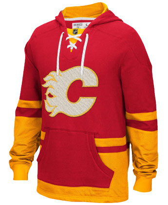 CALGARY FLAMES CCM PULLOVER HOODY. Found in Clothing > Fleece
