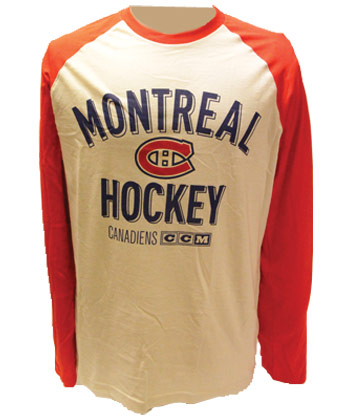 MONTREAL CANADIENS CCM L/S HEATHERED  SHIRT. Found in Clothing > Shirts
