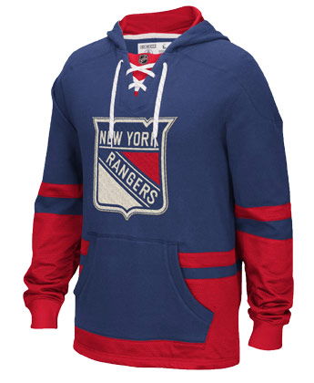 NEW YORK RANGERS CCM PULLOVER HOODY. Found in Clothing > Fleece