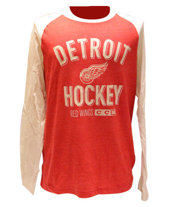 DETROIT RED WINGS CCM L/S HEATHERED  SHIRT. Found in Clothing > Shirts