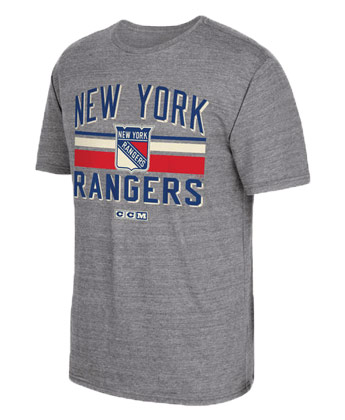 NEW YORK RANGERS STRIPE CLS TRI TEE. Found in Clothing > T-Shirts