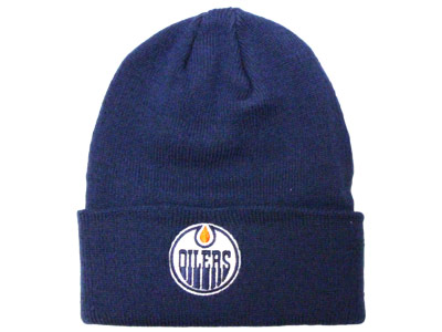 EDMONTON OILERS LOGO CUFFED BEANIE. Found in Clothing > Hats