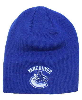 VANCOUVER CANUCKS LOGO CUFFLESS BEANIE. Found in Clothing > Hats