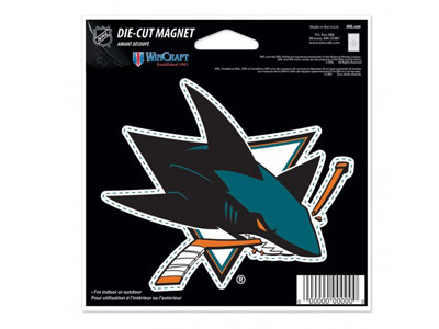 SAN JOSE SHARKS DIE CUT MAGNET. Found in Souvenirs > Magnets