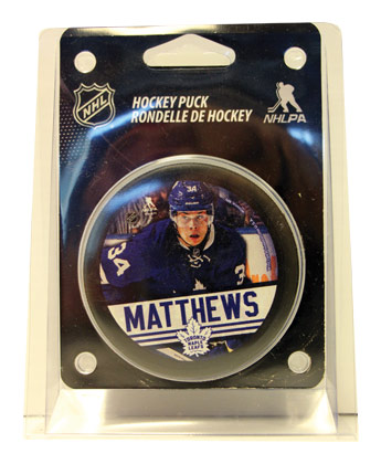 TORONTO MAPLE LEAFS MATTHEWS PUCK PACKAGED. Found in Souvenirs > Pucks