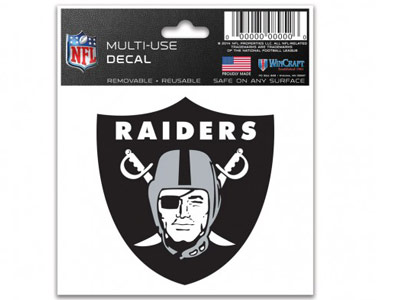 OAKLAND RAIDERS MULTI USE DECAL. Found in Souvenirs > Stickers