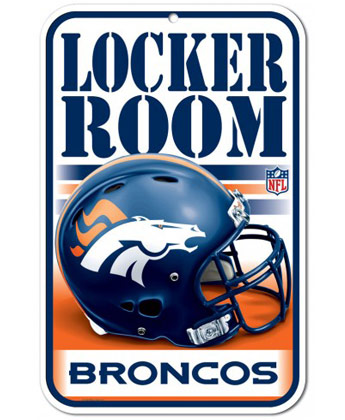DENVER BRONCOS LCKRM PARKING SIGN. Found in Souvenirs > Signs