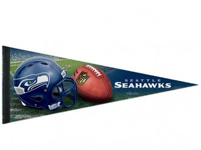Seattle Seahawks FIELD PENNANT. Found in Souvenirs > Pennants