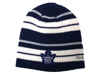 TORONTO MAPLE LEAFS RIBBED BEANIE. Found in Clothing > Hats