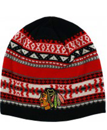 CHICAGO BLACKHAWKS JACQUARD BEANIE. Found in Clothing > Hats