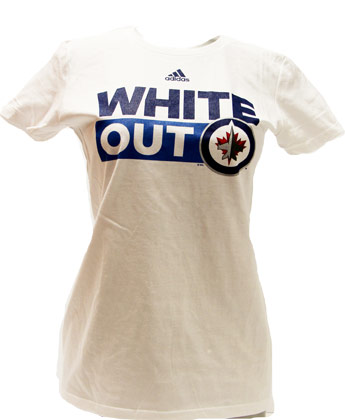 6e748f63cfc Winnipeg Jets LDS WHITE OUT TEE found in NHL   Clothing   T-Shirts ...