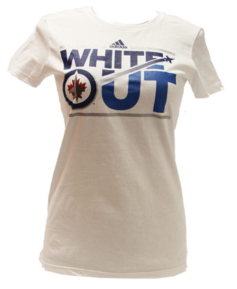 8a3902e7899 Winnipeg Jets LDS WHITE OUT STREAM TEE found in NHL   Clothing   T ...