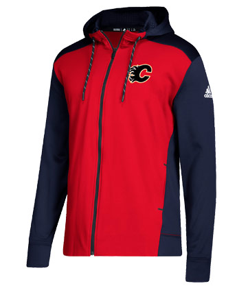 CALGARY FLAMES F/Z 2018 ADIDAS HOOD. Found in Clothing > Fleece