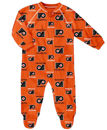 PHILADELPHIA FLYERS NEWBORN ZIP UP RAGLAND. Found in Clothing > Pajamas