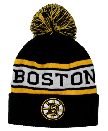 BOSTON BRUINS CULTURE CUFFED POM. Found in Clothing > Hats