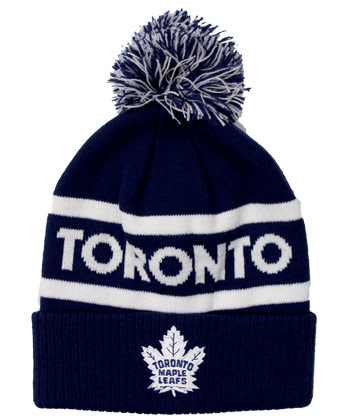 TORONTO MAPLE LEAFS CULTURE CUFFED POM. Found in Clothing > Hats
