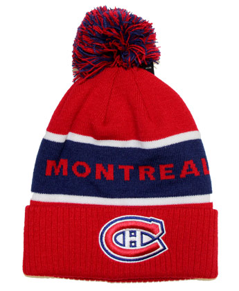 MONTREAL CANADIENS CULTURE CUFFED POM. Found in Clothing > Hats