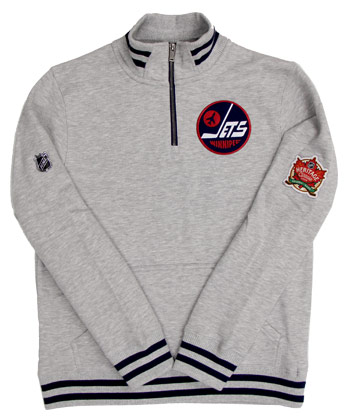 Winnipeg Jets HERITAGE 1/4 ZIP FLEECE. Found in Clothing > Fleece