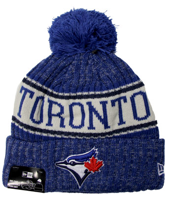 Toronto Blue Jays CUFFED POM SPORTKNIT. Found in Clothing > Hats