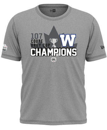 Winnipeg Blue Bombers 19GC CHAMPS T LOCKER. Found in Clothing > T-Shirts