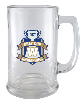 Winnipeg Blue Bombers CHAMPS 15OZ BEER STEIN. Found in Souvenirs > Glassware