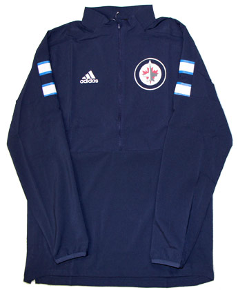 Winnipeg Jets 1/4 ZIP ADIDAS GAME MODE. Found in Clothing > Fleece